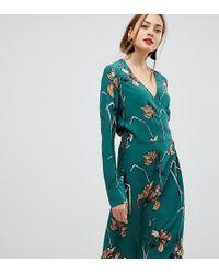 Y.A.S - Floral Print Wrap Dress - Lyst