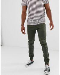 Threadbare Slim Cuffed Chino Trousers