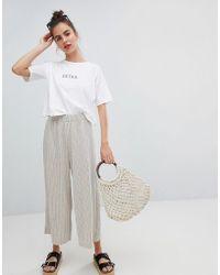 Pull&Bear - Stripe Elastic Waist Pants - Lyst