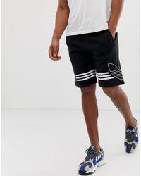 50cd87ee0d8955 adidas Originals - Adidas Original Jersey Shorts Trefoil Logo In Black -  Lyst