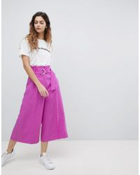 ASOS   Tailored D-ring Culottes In Purple   Lyst