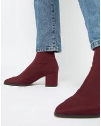 ASOS - Rally Heeled Sock Boots - Lyst