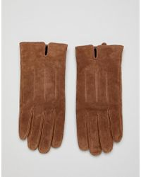 Barneys Originals - Gants en daim - Lyst