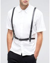 ASOS - Leather Harness In Black - Lyst