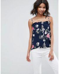 Pieces - Emi Floral Print Cami Top - Lyst
