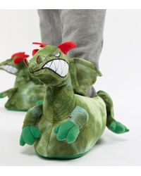 ASOS - Dragon Slippers In Green - Lyst