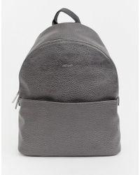 d829ec34205b Matt   Nat Mini Munich Faux Suede Grey Backpack in Gray - Lyst