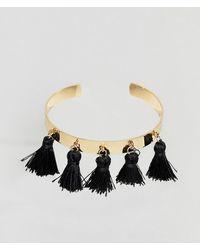 ASOS - Tassel Cuff Bracelet - Lyst