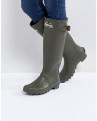 Barbour Jarrow Chaussure De Welly En Caoutchouc Avec Réglage De La Sangle De Glissement - Vert HThcdQ