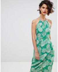 Warehouse - Pineapple Halter Dress - Lyst