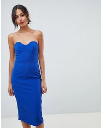 Oasis - Halter Neck Tuelle Pencil Dress With Detachable Straps - Lyst
