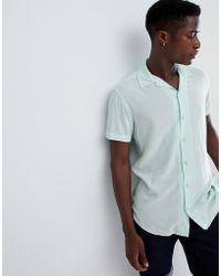 Produkt - Revere Collar Short Sleeve Summer Shirt - Lyst