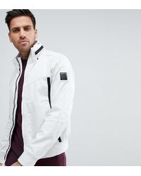 Replay - Lightweight Taped Jacket In White - Lyst