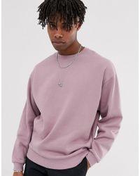 ASOS - Oversized Sweatshirt In Dusty Purple - Lyst