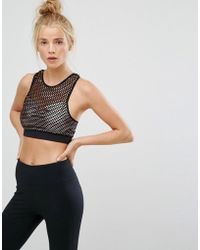New Look | Fishnet Crop Top | Lyst