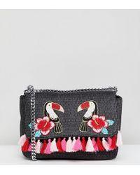 Skinnydip London - Toucan Marley Mini Embroidered Cross Body Bag - Lyst