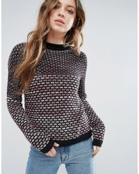 First & I - Textured Knit - Lyst