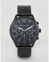Michael Kors - Mk8640 Merrick Chronograph Bracelet Watch In Black - Lyst