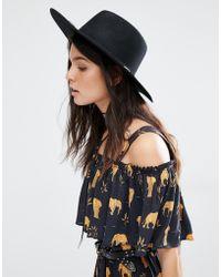 Mango - Felt Trim Cowboy Hat - Lyst