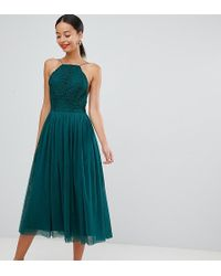 Últimas tendencias bastante baratas tan baratas Vestido de graduación midi en tul - Verde