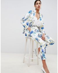 ASOS - Design Tailored Floral Print Single Breasted Blazer - Lyst