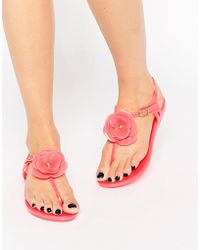 Mel by Melissa - Flower T-bar Flat Sandal - Lyst