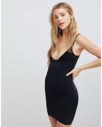 Lyst - Boulee Marilyn Sleeveless Dress With Black Band in Black 7a9eff71c