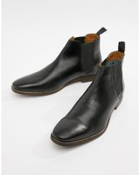 6eb9d3fb5d8 Lyst - Red Tape Chelsea Newton Boots in Black for Men