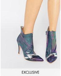 Terry De Havilland - Pixie Petrol Heeled Ankle Boots - Lyst