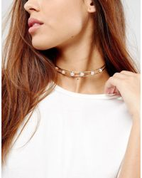 New Look - Pearl Torque Necklace - Lyst
