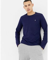 Polo Ralph Lauren - Long Sleeve Soft Cotton Top In Navy - Lyst