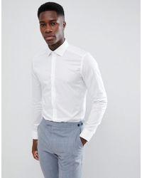 Reiss | Slim Fit Smart Shirt In White | Lyst