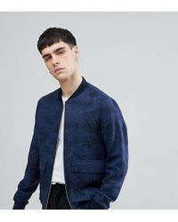 Noak - Bomber With Print In Navy - Lyst
