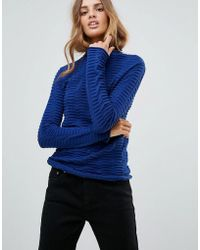 French Connection - Mozart Allover Laddered Sweater - Lyst