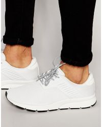 Pull&Bear Knitted Trainer In White sale discount low price fee shipping cheap price jADmWub5R9