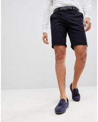 Solid - Slim Fit Chino Short In Black - Lyst