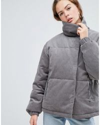 ASOS - Cord Padded Jacket - Lyst