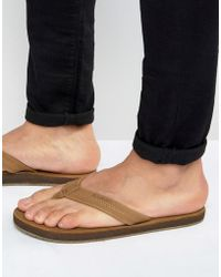 Billabong - All Day Leather Thongs - Lyst