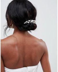 ASOS - Design Bridal Pearl And Crystal Vine Hair Comb - Lyst