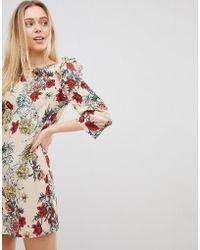 Girls On Film - Floral Shift Dress - Lyst
