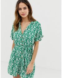 Abercrombie & Fitch - Playsuit In Print - Lyst