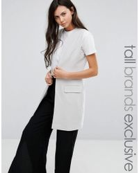 ADPT - Sleeveless Tailored Jacket With One Button Detail - Lyst