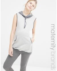 Bluebelle Maternity - Lounge Sleeveless Hoodie - Lyst