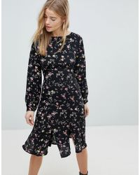 Girls On Film - Midi Dress With Front Splits - Lyst