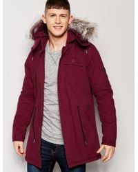 Native Youth - Sherpa Lined Parka - Lyst