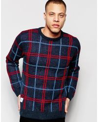 Native Youth - Oversized Check Knit Jumper - Lyst