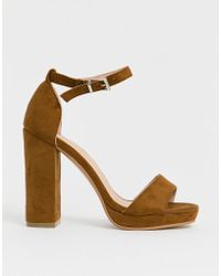 ffb9792cfd2 Carvela Kurt Geiger Genna Platform Heeled Sandals in Metallic - Lyst