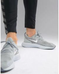e5f31d225e36 Nike Epic React Flyknit Trainers In Khaki Aq0067-300 in Green for ...