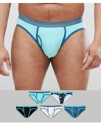 ASOS - Plus Briefs In Dolphin Print 5 Pack - Lyst