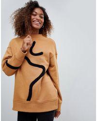 Weekday - Embroidered Detail Sweatshirt - Lyst